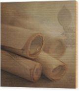 Manuscript Scrolls Still Life Wood Print