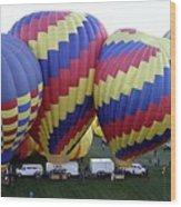 Many Balloons Wood Print