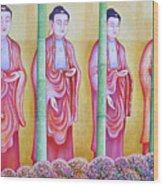 Many Budhas Wood Print