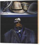 Many Hats One Collar Wood Print