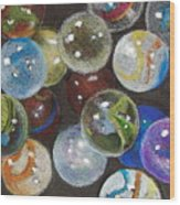 Many Marbles Wood Print