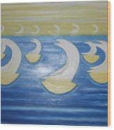 Many Sailing Boats On The Sea Wood Print