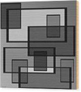 Many Shades Of Neutral Wood Print