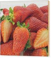 Many Strawberry Wood Print