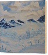 Many Valleys Wood Print