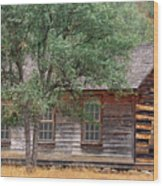 Manzana Schoolhouse - 1895 Wood Print