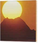Manzanillo Sunset Wood Print