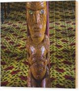Maori Greeter Wood Print