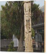 Maori Poupou Wood Print