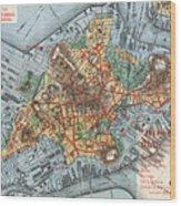 Map: Boston, C1880 Wood Print