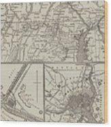 Map Illustrating General Lee's Advance Into Pennsylvania  Wood Print