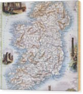 Map: Ireland, 1851 Wood Print