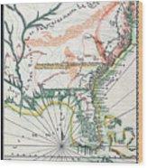 Map: North America, 1742 Wood Print