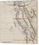 Map Of Aegyptus Antiqua Wood Print by Sydney Hall
