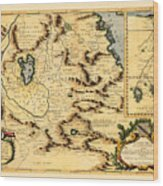 Map Of Africa 1690 Wood Print
