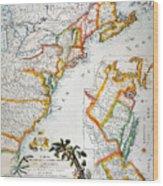 Map Of America, 1779 Wood Print