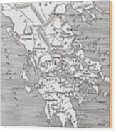 Map Of Ancient Greece Wood Print
