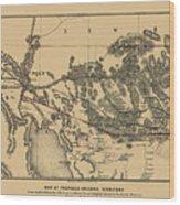 Map Of Arizona 1857 Wood Print