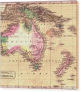 Map Of Australia 1828 Wood Print