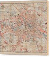 Map Of Berlin 1895 Wood Print