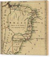 Map Of Brazil 1808 Wood Print