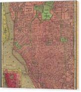 Map Of Buffalo 1896 Wood Print