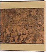 Map Of Cape Breton 1764 Wood Print