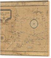 Map Of Cape Cod 1931 Wood Print
