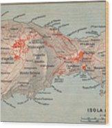 Map Of Capri 1909 Wood Print
