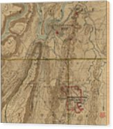 Map Of Chattanooga 1895 Wood Print