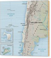 Map Of Chile 2  Wood Print