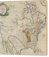 Map Of Colonial North America  Wood Print