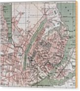 Map Of Copenhagen 1888 Wood Print