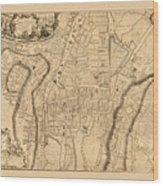 Map Of Cork 1771 Wood Print