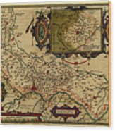 Map Of Cremona 1579 Wood Print
