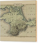 Map Of Crimea 1815 Wood Print