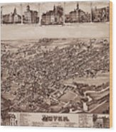 Map Of Dover 1885 Wood Print