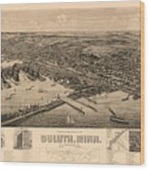 Map Of Duluth 1893 Wood Print