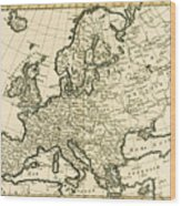 Map Of Europe Wood Print by Guillaume Raynal