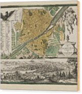 Map Of Florence 1731 Wood Print