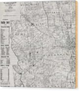 Map Of Franklin County Ohio 1883 Wood Print
