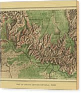 Map Of Grand Canyon 1926 Wood Print