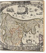 Map Of Holland 1630 Wood Print