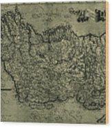 Map Of Ireland 1771 Wood Print