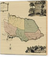 Map Of Jamaica 1763 Wood Print