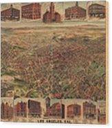 Map Of Los Angeles 1891 Wood Print