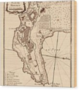 Map Of Monaco 1764 Wood Print