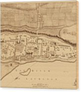 Map Of Montreal 1758 Wood Print