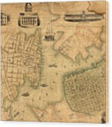 Map Of Norfolk 1851 Wood Print