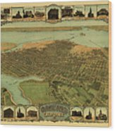 Map Of Oakland 1900 Wood Print
